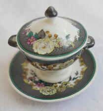 Soupière / légumier miniature en porcelaine Spode—Angleterre—XIXe—H 6,5 cm