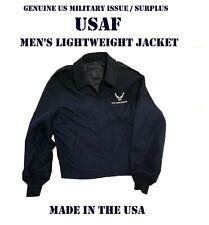 US AIR FORCE LOGO MEN'S 38R USAF JACKET w/ LINER LIGHTWEIGHT SERVICE DRESS BLUE