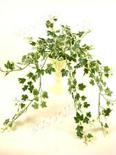 Potted 36cm Variegated Ivy Trailing Artificial Plant