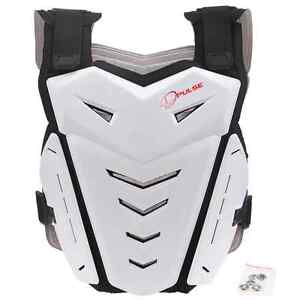 PULSE RENEGADE WHITE MOTOCROSS MX ENDURO BMX MOUNTAIN BIKE CHEST BACK PROTECTOR