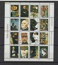hommes célébres   Ajman State  une feuille 16 petits timbres oblitérés/ T1457