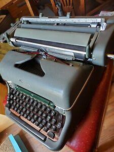 Vintage Olympia Typewriter Model SG1 Green Matte West Germany midcentury