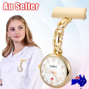 Rose Gold Nurse Fob Watch Luminous Hands Large Face Nurses Pendant Pocket Quartz