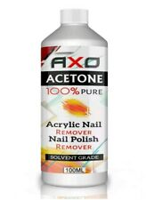 100 Pure Acetone Superior Quality Nail Polish Remover Uv/led GEL Soak off 100ml