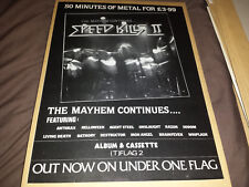 Speed Kills II - Anthrax - Compilation Album Ad - 80's Magazine Retro Poster Art