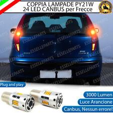 COPPIA LAMPADE PY21W CANBUS 35 LED FIAT PUNTO MK2 FRECCE POSTERIORI NO ERROR