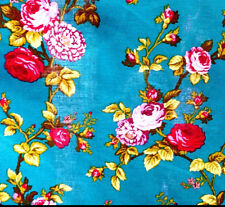 """Victorian Rose Floral Print Poly Cotton Fabric 60"""" 6 Colors Tea Party Theam BTY"""