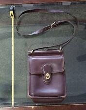 COACH Vintage brown Leather Murphy Willis Turnlock Flap Crossbody #9930