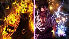 Poster 42x24 cm Naruto Shippuden Uzumaki Naruto Uchiha Sasuke