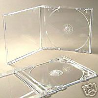 100 PREMIUM CD JEWEL CASES COMPLETE WITH CLEAR TRAYS & 24H DEL / UK MADE