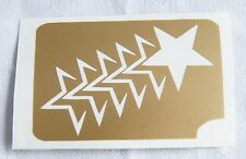 GT13 Body Art Temporary Glitter Tattoo Stencil Star Stars