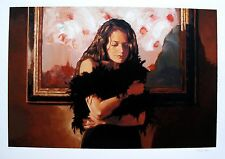 """MARK SPAIN """"THE BLACK DRESS"""" Hand Signed Limited Edition Art Giclee"""