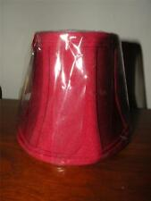 NEW/UNUSED RED SHANTUNG CHANDELIER SHADE SHADES