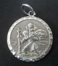 Vintage Danish Silver St. Christopher Pendant  c.1970s  - Georg Jensen  Denmark
