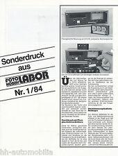 Presión especial foto hobby laboratorio 1/84 Wallner ca 516 mc 505 ld 517 reprint 1984