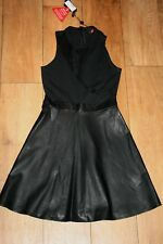 NEW&TAGS leather look MOTEL dress SIZE S 6 8 mesh panel stretch top club party