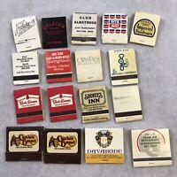 Vintage Matchbook Restaurant Cracker Barrel Fricker's Club Advertisement MATCHES
