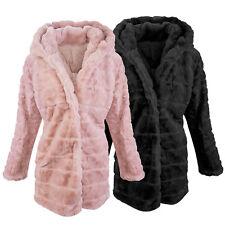 Designer Damen Winter Jacke Teddy-Fleece Jacke Wintermantel Fleecemantel D-406