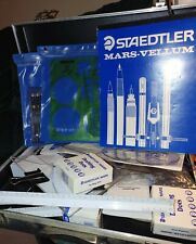 Large Lot Drafting Supplies, Mostly Staedtler in briefcase (see pictures below)