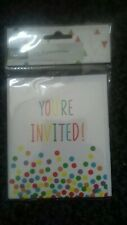 SALES!..'You're Invited!' Notelets...1 Pack...8 cards *NEW* childrens party etc