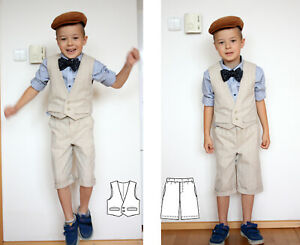 Special occasion suit vest and shorts boys 5T Handmade