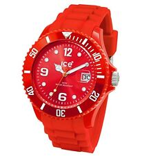 """ICE Red Silicone Strap Bracelet """"Forever"""" 43mm Unisex Watch #101970"""