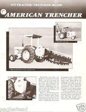 Equipment Brochure - American Trencher Bradco 673 Tractor Trencher Blade (E2549)