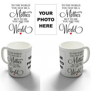 PERSONALISED MOTHER MUM YOUR PHOTO COFFEE MUG TEA CUP BIRTHDAY CHRISTMAS GIFT