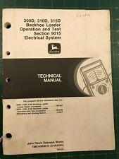 John Deere Technical Manual 300d 310d 315d Backhoe Loader 9015 Test Tms14969015