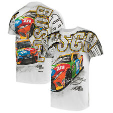 Nascar Kyle Busch #18 M&M  White Total Print T-Shirt  2018 Free Shipping  2XL