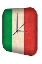 Horloge murale Voyage Autour Du Monde  drapeau de l'Italie Décorative