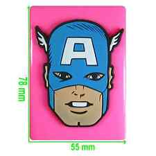 Captain America Face Silicone Mould by Fairie Blessings