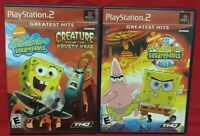 Spongebob Squarepants Creature Movie PS2 Playstation 2 Game Lot 1 Owner Complete