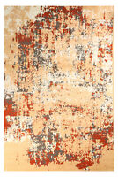 Distressed Vintage Faded - 2'x4', Beige, Abstract Area Rug - 502