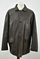 MASSIMO DUTTI Brown Leather Jacket size XL