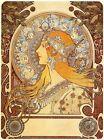 Alphonse Mucha (Alfons) zodiac 2 canvas print giclee 8X12&12X17 art reproduction