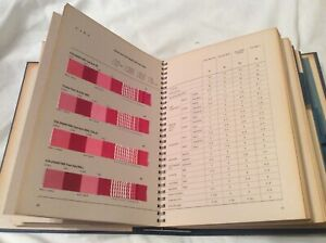 vintage DYE RECIPES TEXTILE SAMPLE SWATCHES colors binder book colorful