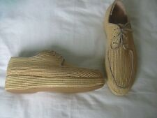 CARVEN BY ROBERT CLERGERIE RAFFIA WOVEN STRAW PLATFORM SHOES SZ. 39  UK 6 US 8