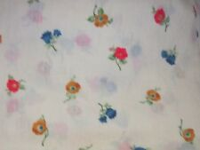 Beautiful dainty floral fabric print country wildflowers material sewing chic