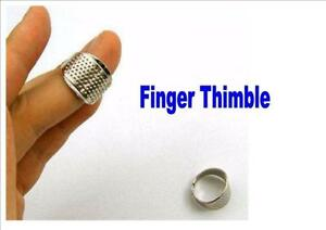 FINGER THIMBLE metal protector ADJUSTABLE sewing knitting quilting UK seller