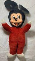 Extremely RARE Vintage Toy Mickey Mouse Woolikin Original Walt Disney Plush Doll
