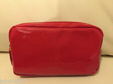 YSL YVES SAINT LAURENT PARFUMS TOILETRY POUCH BAG RED NEW **LOOK**