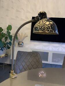 KAISER idell  beige Klemmleuchte Lampe Schwanenhals Klemmfuß vintage Bauhaus