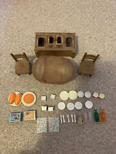 Sylvanian Families Dropleaf Table And Cupboard Furniture Set