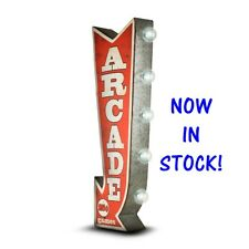 ARCADE Off the Wall Tin Sign, Double sided  BIG BOLD LED Lights