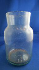 ancien pot bocal a pharmacie bonbon verre soufflé  epoque 1900 16cm