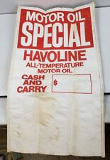 HAVOLINE MOTOR OIL SIGN poster advertising gas station 35x20.5 double sided