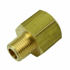 "Brass Pipe Fitting Adapter 1/4"" NPT Male x 1/4"" NPT Female"