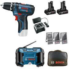 Bosch Akku-Schrauber GSR 12V-15 (10,8V) 2x 4,0 Ah + Set + Akku Radio GPB 12V-10