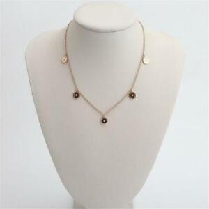 New Michael Kors Rose Gold Tone Logo Necklace